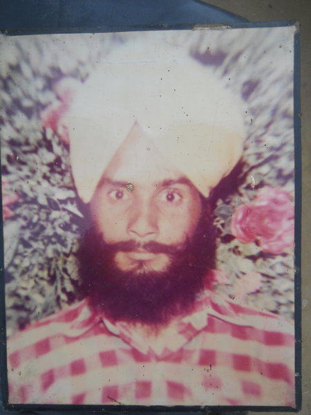 Photo of Partap Singh, victim of extrajudicial execution between December 1, 1990 and December 31,  1990, in Qadian, by Punjab Police