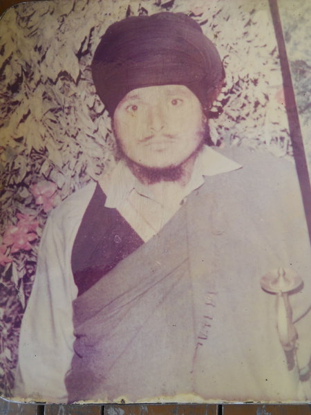 Photo of Satnam Singh, victim of extrajudicial execution on February 26, 1991, in Qadian, Dhapai, by Punjab Police