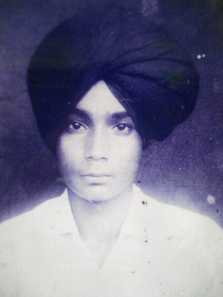 Photo of Major Singh, victim of extrajudicial execution between September 15, 1988 and October 15,  1988, in Sri Hargobindpur, Udhanwal,  by Punjab Police; Border Security Force, in Sri Hargobindpur, by Punjab Police
