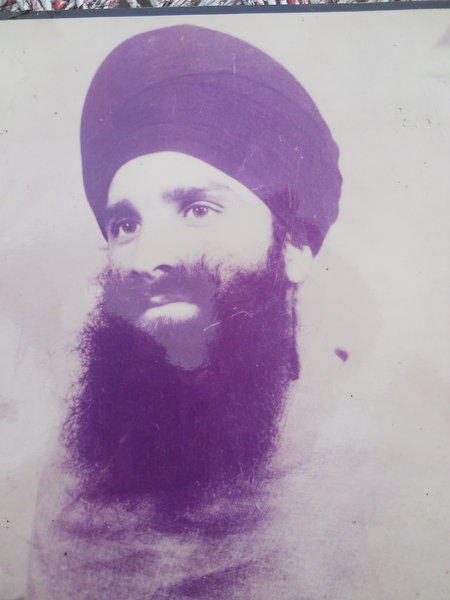 Photo of Sarabjit Singh, victim of extrajudicial execution on August 3, 1987, in Beas, by Punjab Police; Black cat