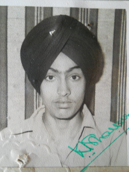 Photo of Avtar Singh, victim of extrajudicial execution on January 13, 1987, in Batala,  by Punjab Police; Black cat, in Batala, by Punjab Police