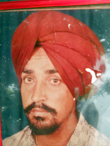 Photo of Kulwant Singh, victim of extrajudicial execution on July 26, 1991, in Udhanwal, by Punjab Police