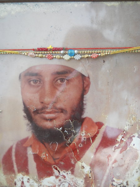 Photo of Sikandar Singh, victim of extrajudicial execution on July 26, 1991, in Udhanwal, by Punjab Police