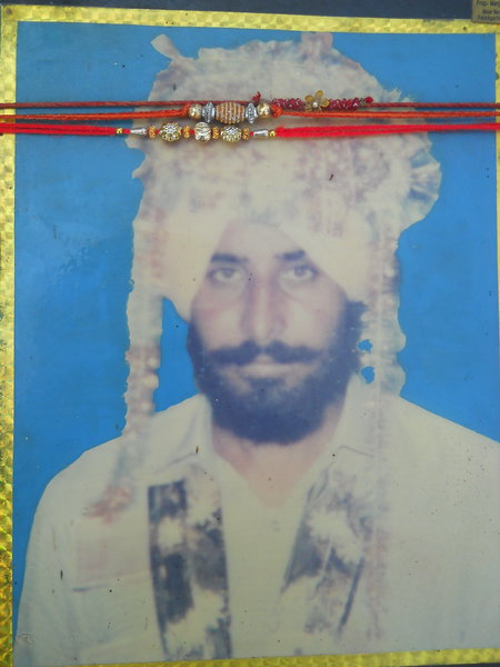 Photo of Jaswant Singh, victim of extrajudicial execution on August 15, 1991, in Udhanwal, by Punjab Police