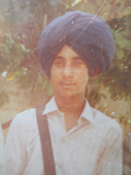 Photo of Satnam Singh, victim of extrajudicial execution on November 01, 1986, in Batala, by Punjab Police