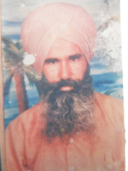 Photo of Makhan Singh, victim of extrajudicial execution between April 1, 1992 and April 1,  1993, in Batala, by Punjab Police