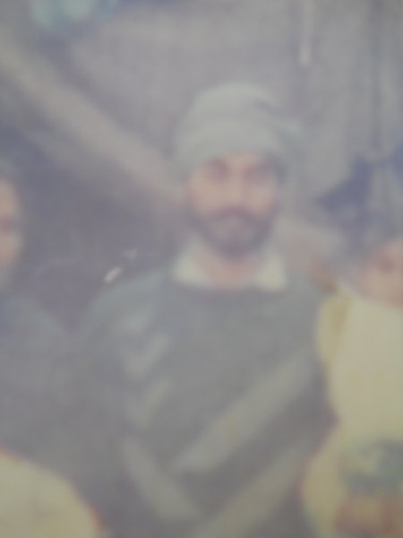 Photo of Lakhbir Singh, victim of extrajudicial execution between October 26, 1992 and October 30,  1992, in Wadala Granthian,  by Central Reserve Police Force, in Sri Hargobindpur, by Punjab Police