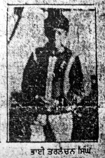 Photo of Tarlochan Singh, victim of extrajudicial execution between October 10, 1991 and October 15,  1991, in Qadian, Batala, by Punjab Police