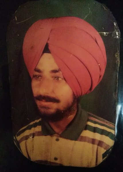 Photo of Rashpal Singh, victim of extrajudicial execution between May 1, 1991 and September 17,  1992, in Batala, Batala Beeco Detention Center, by Punjab Police