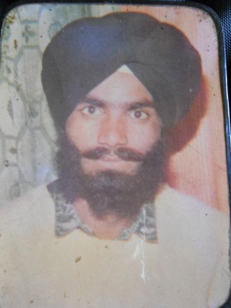 Photo of Hardiyal Singh, victim of extrajudicial execution between December 15, 1991 and December 16,  1991, in Batala, by Punjab Police