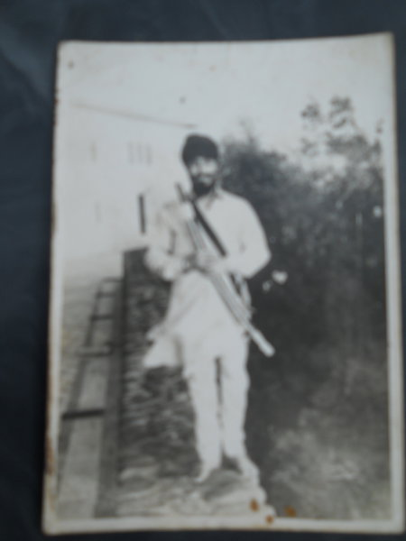 Photo of Amrik Singh, victim of extrajudicial execution on October 27, 1987, in Sarhali Kalan, by Punjab Police