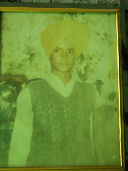 Photo of Gurdev Singh, victim of extrajudicial execution on July 25, 1989, in Batala,  by Punjab Police; Central Reserve Police Force, in Batala, by Punjab Police