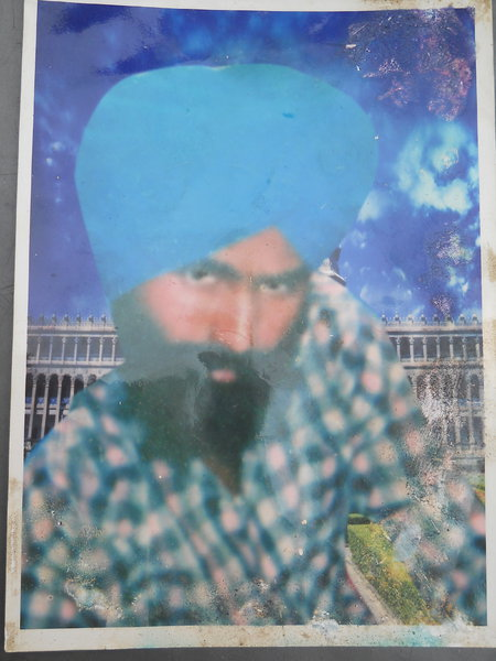 Photo of Karnail Singh, victim of extrajudicial execution between January 1, 1989 and October 9,  1989, in Majitha, by Punjab Police