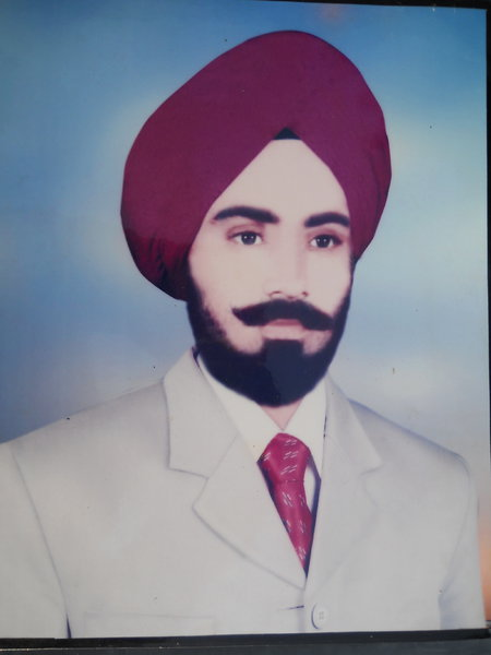 Photo of Kulwant Singh, victim of extrajudicial execution on April 06, 1990, in Thariwal 10th Battalion CRPF Camp, by Central Reserve Police Force