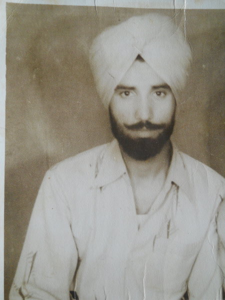 Photo of Buta Singh, victim of extrajudicial execution on March 3, 1984, in Goraya, by Punjab Police
