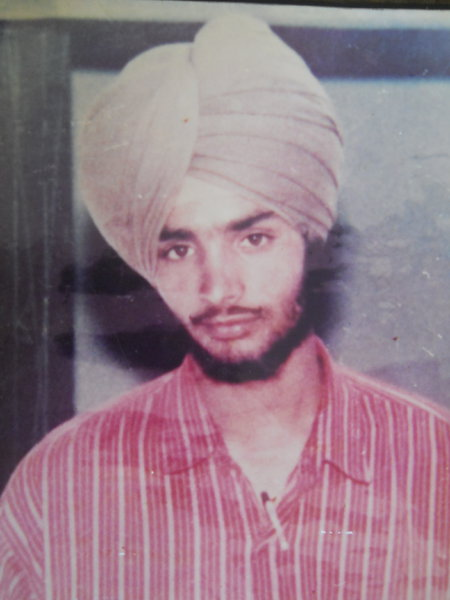 Photo of Gurmeet Singh, victim of extrajudicial execution on May 09, 1991, in Ludhiana, by Punjab Police