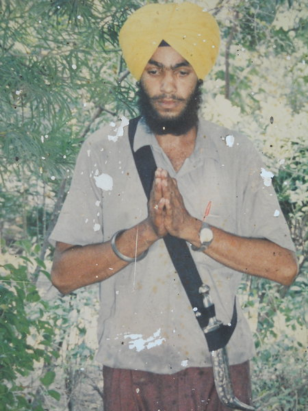 Photo of Balwinder Singh, victim of extrajudicial execution on October 04, 1990, in Batala, by Punjab Police