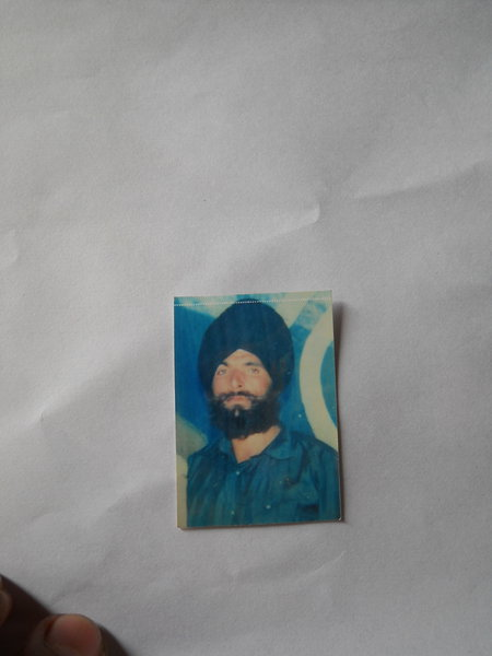 Photo of Chanan Singh, victim of extrajudicial execution between March 20, 1991 and May 25,  1991, in Ghuman, by Punjab Police