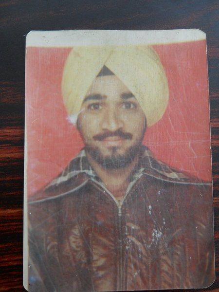 Photo of Shindpal Singh, victim of extrajudicial execution on August 14, 1991, in Udhanwal, by Punjab Police