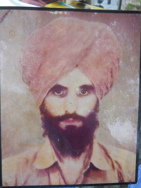 Photo of Satnam Singh, victim of extrajudicial execution, date unknown, in Amritsar, by Border Security Force; Central Reserve Police Force