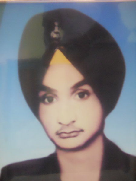 Photo of Satnam Singh, victim of extrajudicial execution on March 3, 1985, in Ramgarh, Lucknow,  by Army, in Lucknow, by Army