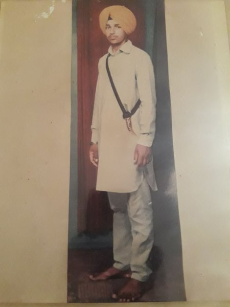 Photo of Balwinder Singh, victim of extrajudicial execution between October 10, 1986 and October 11,  1986, in Dera Baba Nanak,  by Punjab Police; Border Security Force; Army, in Dera Baba Nanak, by Punjab Police; Border Security Force; Army