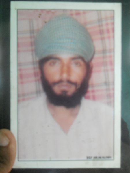 Photo of Mukhtiar Singh, victim of extrajudicial execution on October 18, 1991, in Ludhiana, by Punjab Police