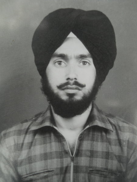Photo of Narinder Singh, victim of extrajudicial execution on August 14, 1989, in Harchowal, by Punjab Police