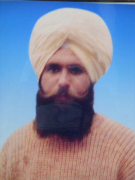 Photo of Satnam Singh, victim of extrajudicial execution between July 12, 1993 and October 13,  1993, in Sangrur, by Punjab Police
