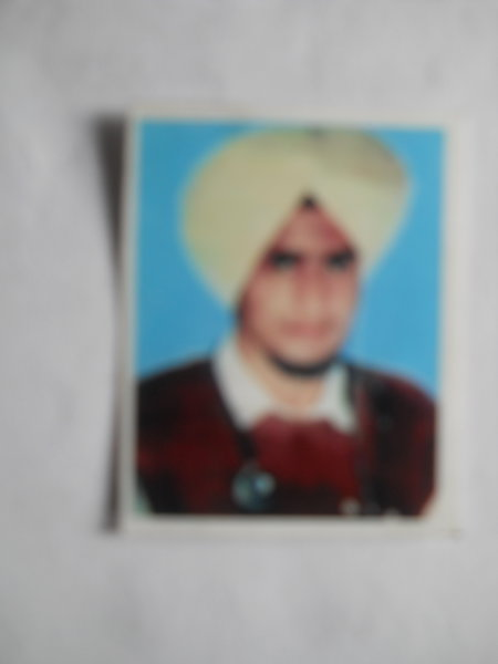 Photo of Harwinder Singh, victim of extrajudicial execution between January 30, 1993 and November 8,  1993 by Unknown type of security forcesPunjab Police