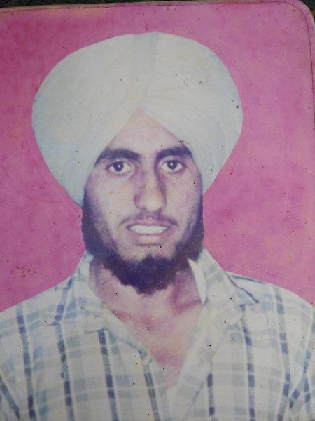 Photo of Sukhjinder Singh, victim of extrajudicial execution on November 25, 1991, in Gurdaspur, by Punjab Police
