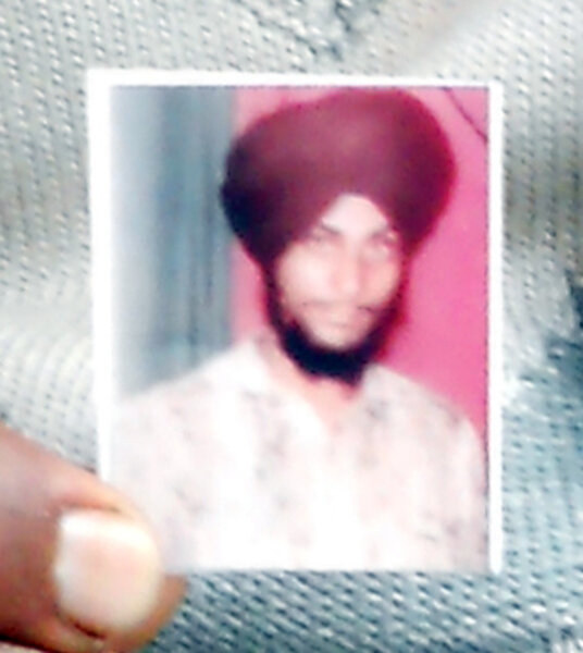 Photo of Sewa Singh, victim of extrajudicial execution between July 20, 1990 and August 9,  1990, in Batala, by Punjab Police