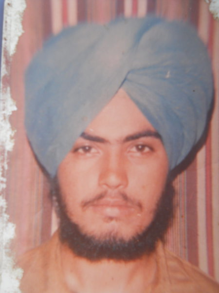 Photo of Baljeet Singh, victim of extrajudicial execution on June 05, 1990, in Dera Baba Nanak, by Punjab Police
