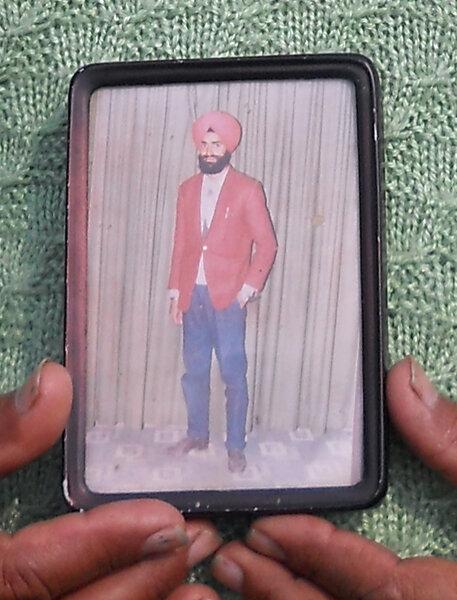 Photo of Sawinder Singh, victim of extrajudicial execution on June 19, 1993, in Kotli Surat Malhi, by Punjab Police