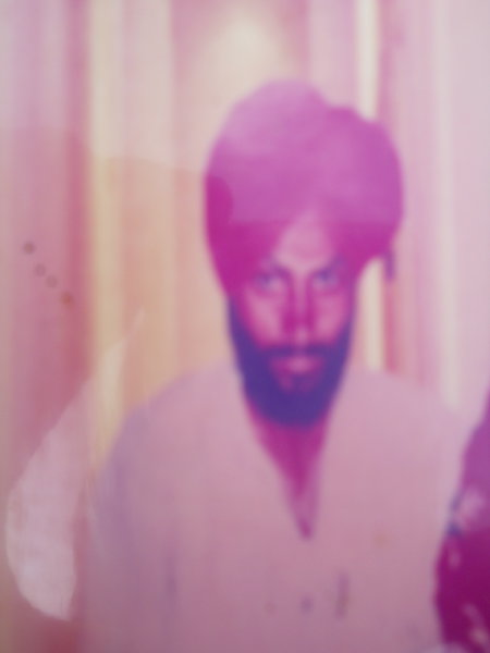 Photo of Dilbag Singh, victim of extrajudicial execution on December 22, 1991, in Dera Baba Nanak, by Punjab Police