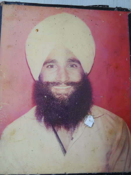 Photo of Gurnam Singh, victim of extrajudicial execution on September 06, 1990, in Majitha, by Punjab Police