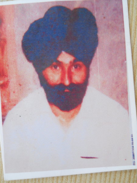 Photo of Balwant Singh, victim of extrajudicial execution on January 11, 1989, in Payal, by Punjab Police