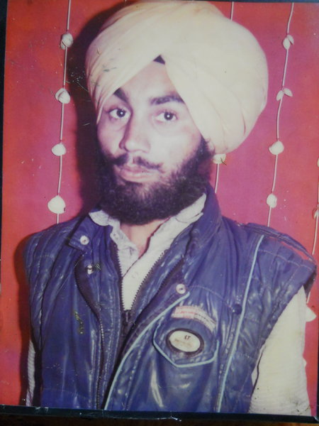 Photo of Nishan Singh, victim of extrajudicial execution on January 29, 1991, in Batala, Fatehgarh Churian, by Punjab Police
