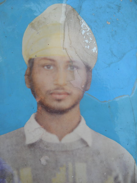 Photo of Gajjan Singh, victim of extrajudicial execution on December 15, 1988, in Sri Hargobindpur,  by Punjab Police; Border Security Force, in Sri Hargobindpur, by Punjab Police