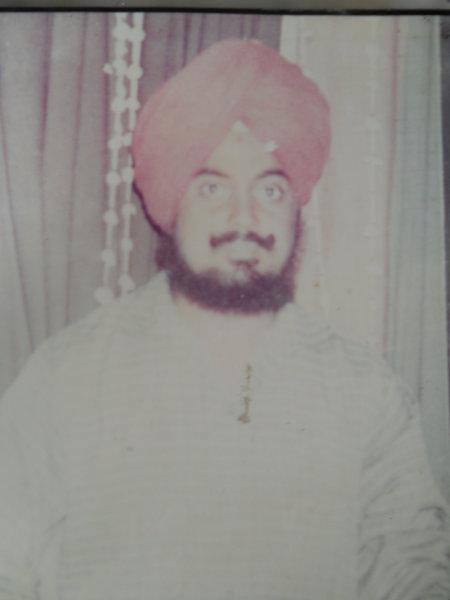 Photo of Baldev Singh, victim of extrajudicial execution between December 1, 1991 and December 6,  1991, in Sri Hargobindpur, by Punjab Police