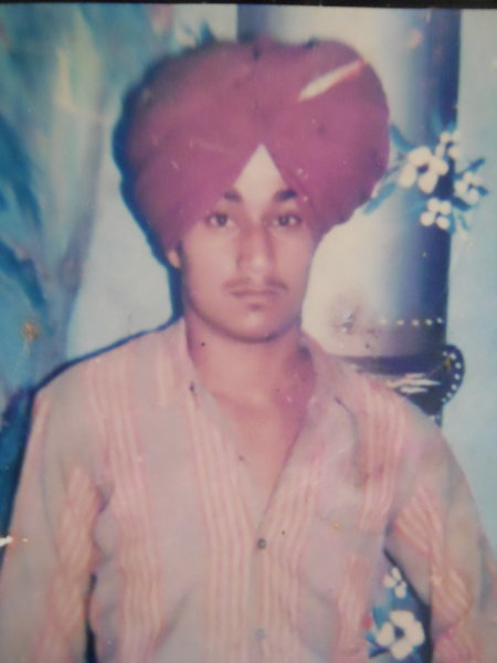 Photo of Balwinder Singh, victim of extrajudicial execution on May 18, 1989, in Jalandhar, by Punjab Police