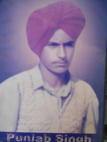 Photo of Punjab Singh, victim of extrajudicial execution on August 13, 1991, in Udhanwal, Batala, by Punjab Police; Border Security Force