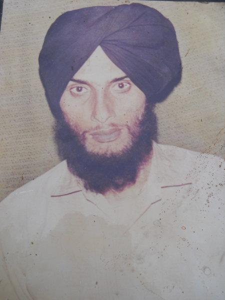 Photo of Gurnam Singh, victim of extrajudicial execution between September 1, 1988 and September 15,  1988, in Buttar Kalan, Qadian, by Punjab Police; Border Security Force