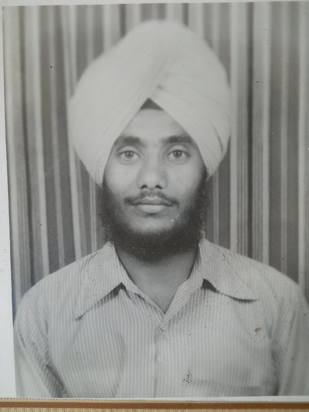 Photo of Balbir Singh, victim of extrajudicial execution on August 23, 1987, in Dhariwal, by Punjab Police; Border Security Force; Black cat