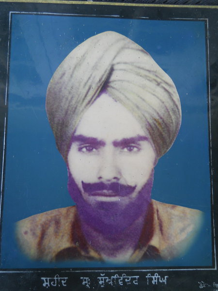 Photo of Sukhwinder Singh, victim of extrajudicial execution on August 23, 1987, in Dhariwal, by Punjab Police; Border Security Force; Black cat