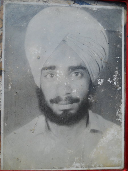 Photo of Darshan Singh, victim of extrajudicial execution between March 1, 1991 and April 31,  1991, in Dhariwal, by Punjab Police