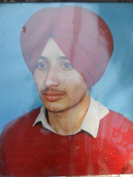 Photo of Tajinder Singh, victim of extrajudicial execution on April 26, 1991, in Dhariwal, by Punjab Police