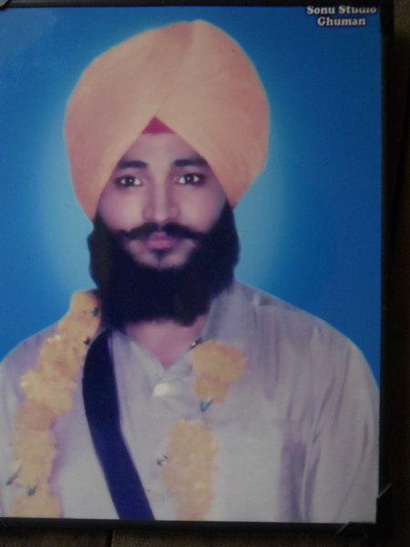 Photo of Tarsem Singh, victim of extrajudicial execution on November 14, 1987, in Kapurthala,  by Punjab Police; Central Reserve Police Force, in Jalandhar, Gurdaspur, by Punjab Police