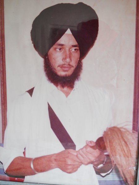 Photo of Karam Singh, victim of extrajudicial execution between October 17, 1985 and November 15,  1985, in Dhariwal, by Punjab Police