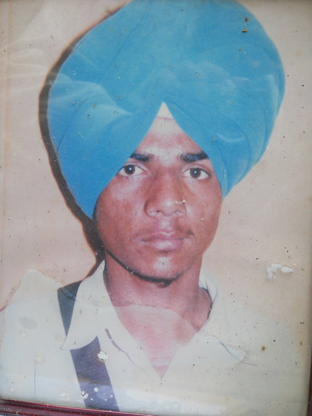 Photo of Dalwinder Singh, victim of extrajudicial execution on October 21, 1989, in Kahnuwan, by Punjab Police